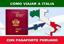 como viajar a italia con pasaporte peruano